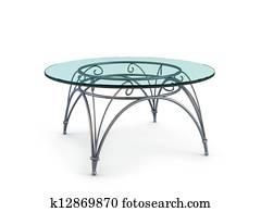 Modern Coffee Glass Table Stock Illustration K1644649 Fotosearch