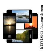 Modern phone of type ipad