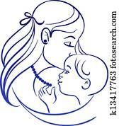 mother child clip art illustrations 39 121 mother child clipart eps