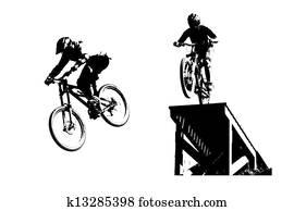 Mountainbike silhouettes