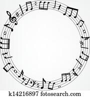 music notes border