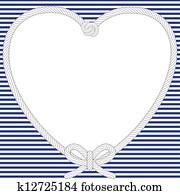 Nautical Valentine frame