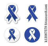 Navy blue ribbon - child abuse