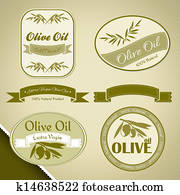 Olive oil vintage labels
