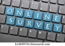 Online survey on keyboard