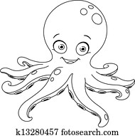 Outlined octopus