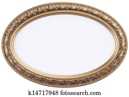 oval gilded picture frame or mirror