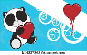 panda baby karikatur weihnachten sticke clipart. Black Bedroom Furniture Sets. Home Design Ideas