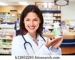 Pharmacist woman.