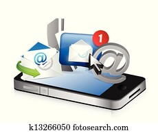 phone Contact us concept