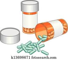 Pill Bottles-Prescription Drug