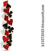 Playing Cards suits border 3D