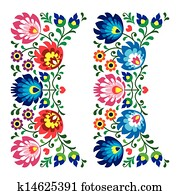 Polish floral folk pattern