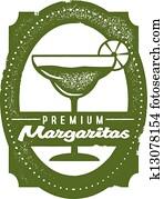 Premium Margarita Bar Stamp