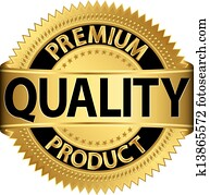 Premium quality product golden labe