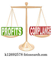Profits and Compliance in Balance Scale Weighing Words