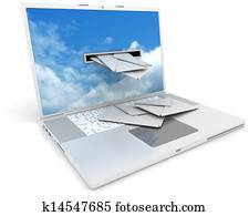 recieving email on your laptop