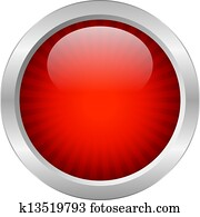Red vector button