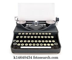 Retro vintage typewriter