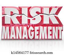 Risk Management 3d Words Reducing Danger Minimize Liability
