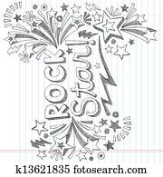 rockstar, musik, sketchy, gekritzel