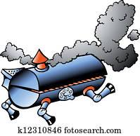 Running BBQ barrel