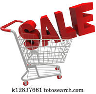 Sale Word in Shopping Cart