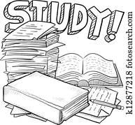 School study sketch