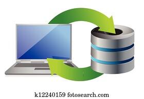 server and laptop Database backup