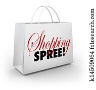 Shopping Spree Bag Marketplace Store Spending Money