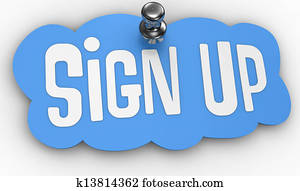 Sign Up website pin label icon
