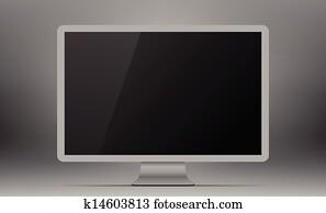 Silver monitor.