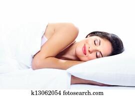 Sleeping woman.
