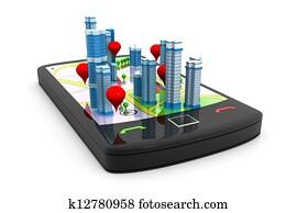 Smart phone Street Map