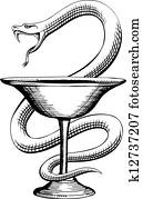 Snake and Cup Pharmacy Symbol