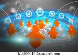 social media network communication