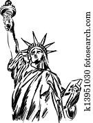 Statue of Liberty illustration