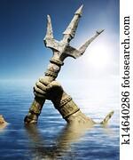 Statue of Neptune or Poseidon's arm