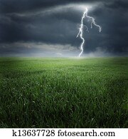 Storm on the field