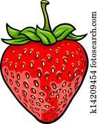 strawberry fruit cartoon illustration
