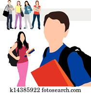 studenten, abbildung