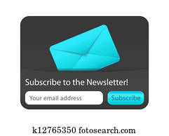 Subscribe to Newsletter Form with Blue Envelope