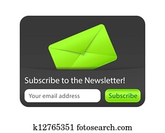 Subscribe to Newsletter Form with Green Envelope