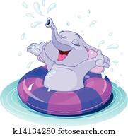 Summer fun elephant