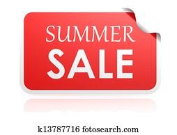 Summer sale sticker