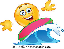 surfen, emoticon