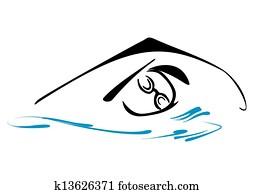 Swimming symbol