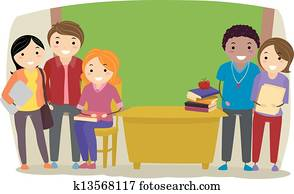 Teachers in a Classroom