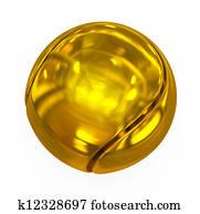 tennis ball golden