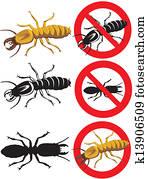 termite, -, gefarenschilder